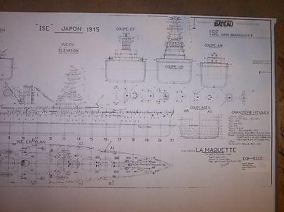 ISE japanessuper dreadnought ship boat model boat plans