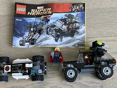 Lego 76030 Hydra Showdown 100% Complete Avengers Marvel Super Heroes
