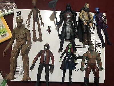 Marvel Legends Guardians Of The Galaxy Lot Groot BAF Ronan Drax Starlord Gamora