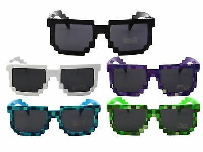 Pixel Sunglasses Adults Unisex Glasses Shades Children Mosaic Deal With It meme