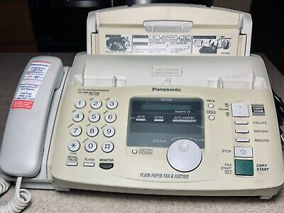 Panasonic Plain Paper Fax Copier Machine Model Kx-fp80 With Power Phone Cord