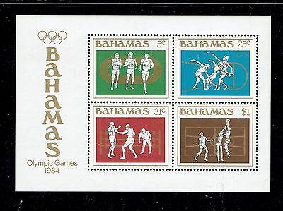 BAHAMAS 558-562a, 1984 OLYMPICS, PLUS S/S OF 4, MNH (BAM002)