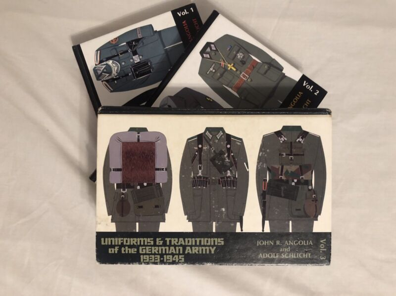 Uniforms & Traditions Of The German Army 1933-1945. Vol 1. Vol 2. Vol 3.