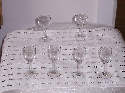 6 Liqueur Glasses