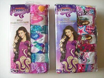 Victorious Underwear Underpants Girls 7 Pair Panty Pk 2 4 6 8 Nickelodeon ()