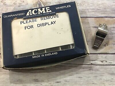 NEW Vintage The Acme Thunderer Whistle England Nickel Plated Brass Small 60.5