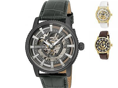 Invicta Men\s \Objet d\Art\ Automatic Leather Casual Watch