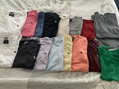 Lot Of 17 Abercrombie & Fitch Mens Size Medium T-shirts Perfect Condition M