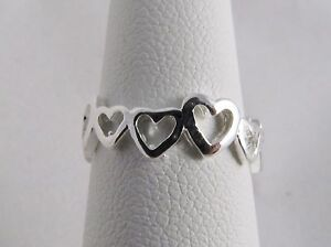 New Wholesale Toe Ring 925 Sterling Silver Plate Fashion Jewelry Hearts