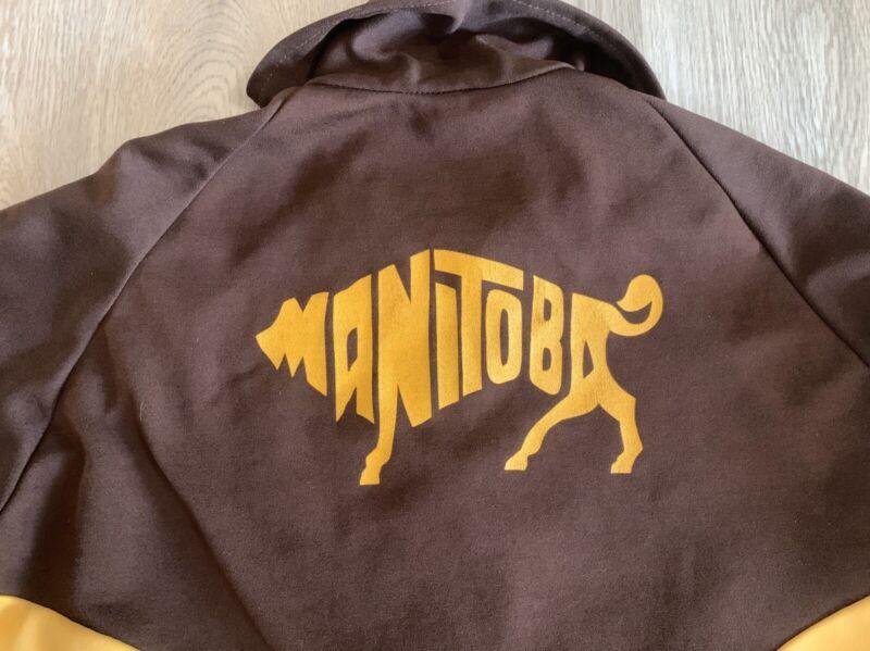 vintage TEAM MANITOBA curling jacket - size 42 - bison Large
