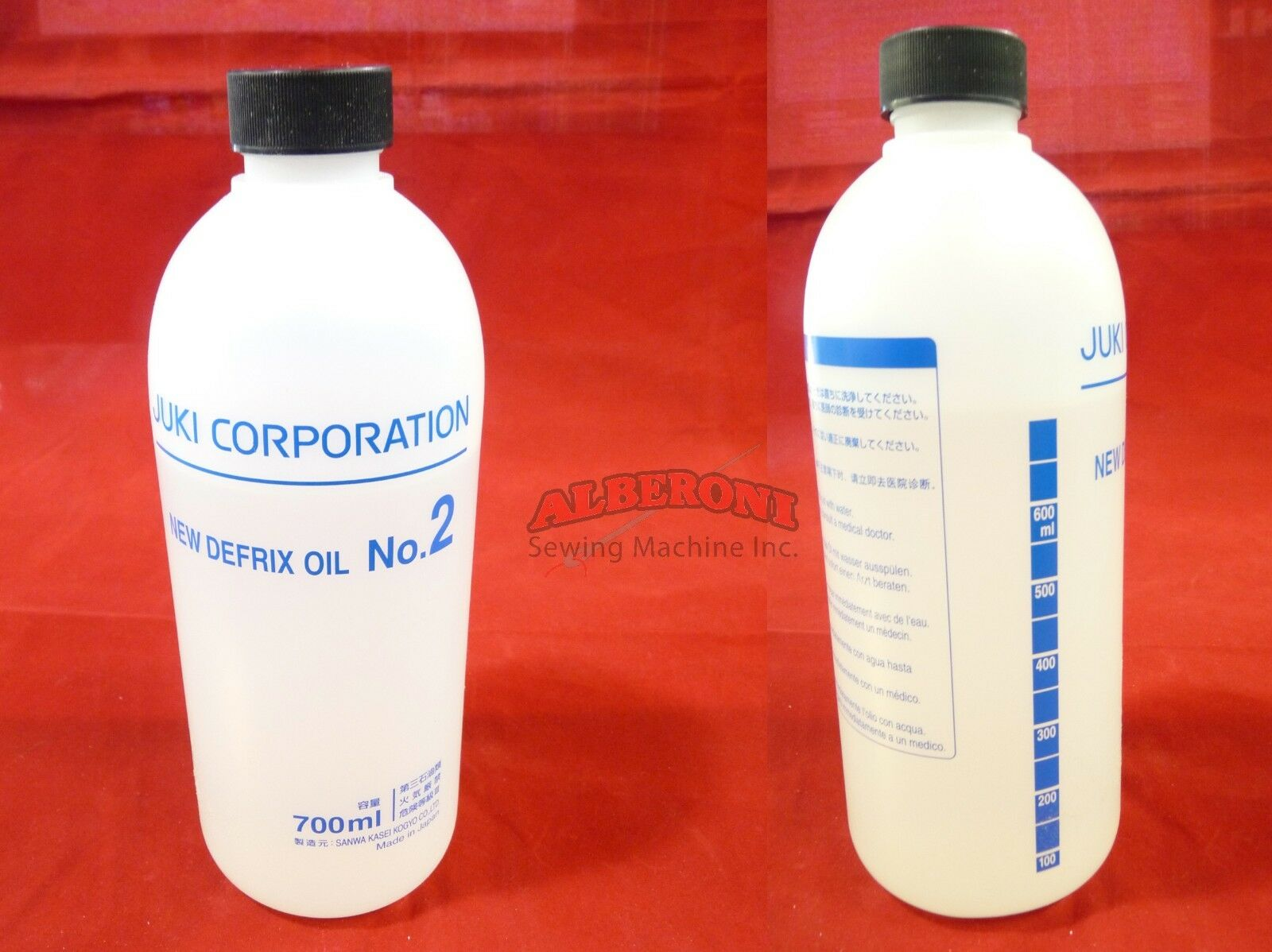 Juki Genuine Sewing Machine Defrix Oil No. 2 700 ml  Alberon