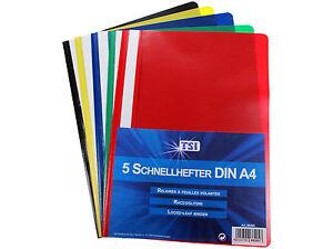 5-50-Carpetas-de-plastico-A4-plastikhefter-escolares-en-5-COLORES