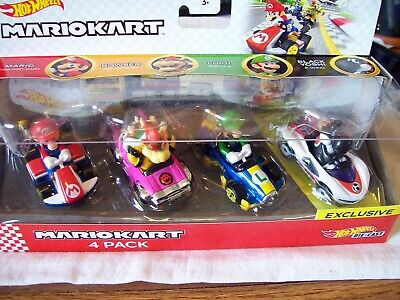 Hot Wheels Mario Kart - 4 pack - Black Yoshi P-Wing exclusive - very rare