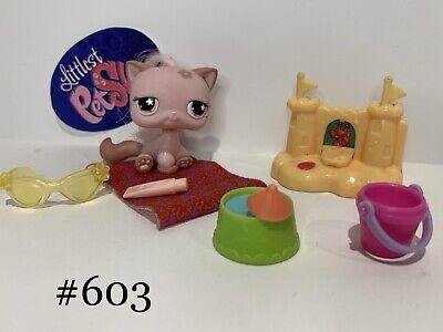 Littlest Pet Shop - Hasbro LPS - CAT #603 W/ Accessories