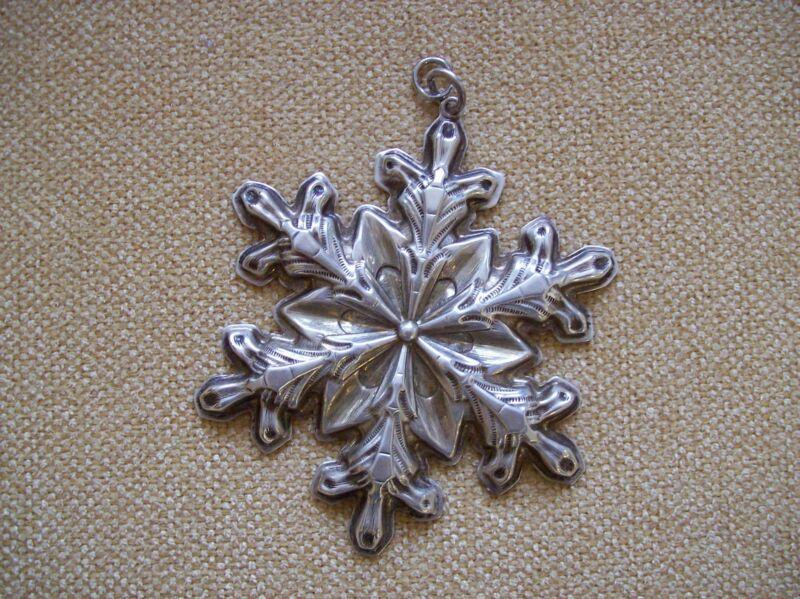 Gorham Sterling Silver Snowflake Ornament 1973