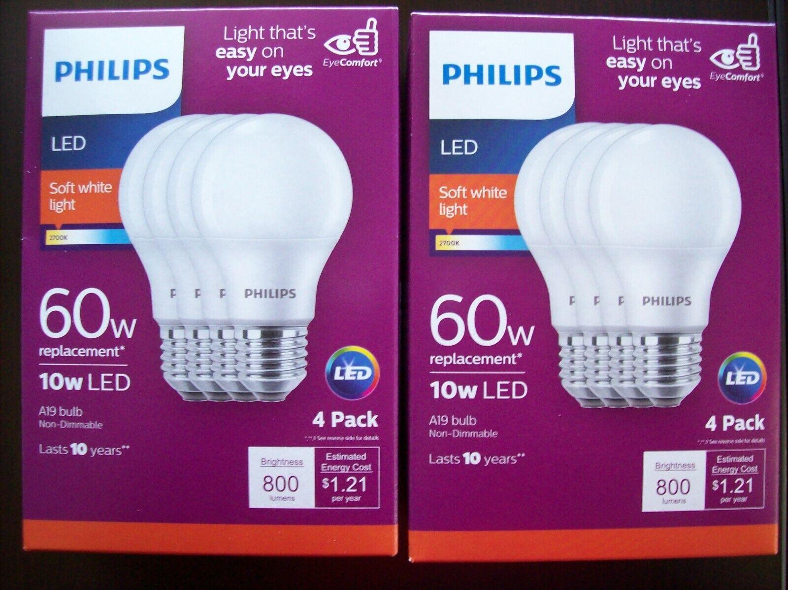 Philips - 800-lumen, 8.5w A19 Led Light Bulb, 60w Equivalent