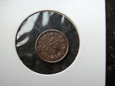 1 demi cent cuivre pays bas 1894 Reine wilhelmine  rare peu  TTb