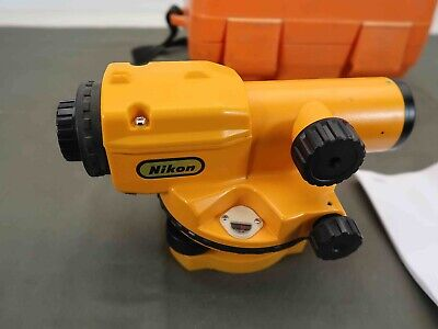 Nikon Ax-1 Ax1 Autolevel Surveying Equipment Level In Case Made In Japan