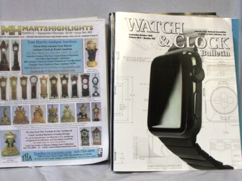 Lot of 11 NAWCC Journals and Mart & Highlights Bulletins ((2014-2018)