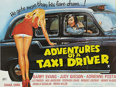 "Adventures of a Taxi Driver 1976 16"" x 12"" Reproduction Movie Poster Photograph"