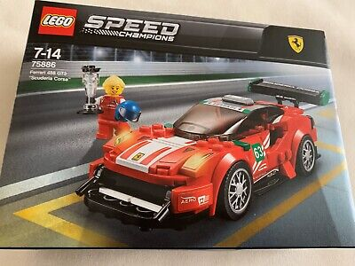 Lego Speed Champions Ferrari 75886, Car Building Toy Set New Unopened
