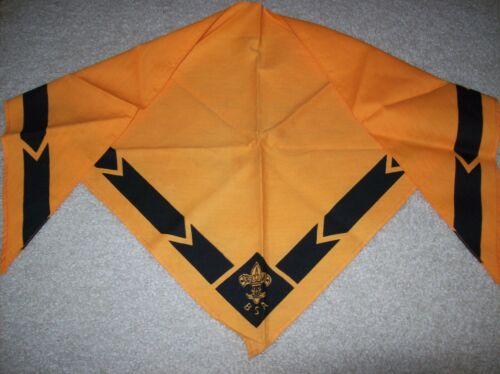 Vintage Boy Scouts of America Neckerchief Scarf Gold/black or Orange/black