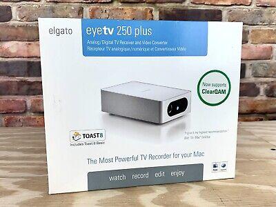 ELGATO eyeTV 250 PLUS Analog Digital TV Receiver Video Recorder For MAC Complete