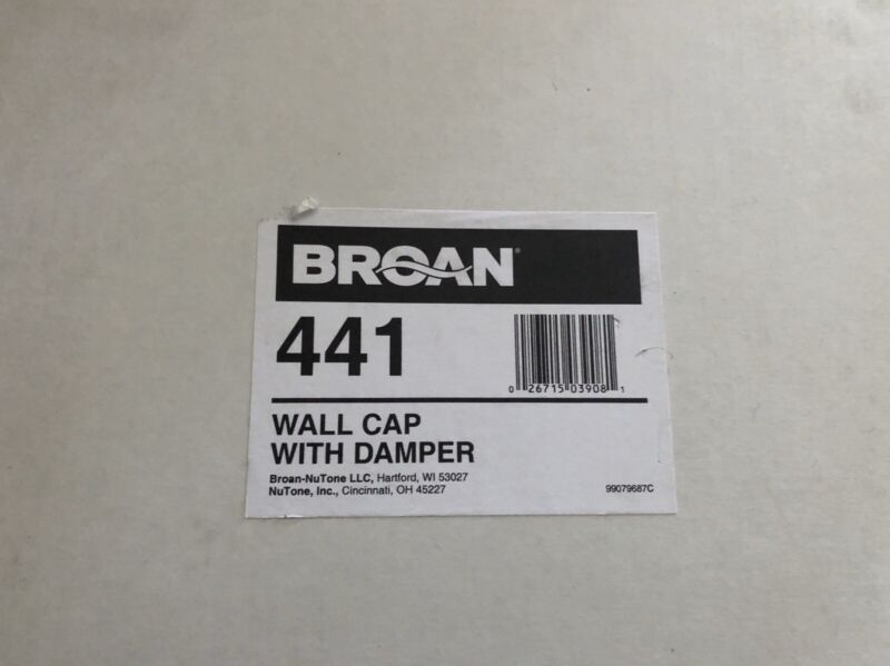"""Broan 441 10"""" Round Duct Wall Cap With Gravity Damper"""