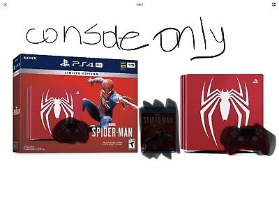 Spider Man Ps4 Pro Limited Edition Console Only No Game Or Controller