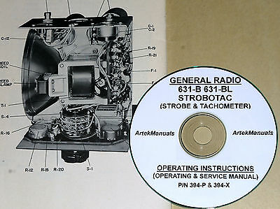 General Radio 631-b 631-bl Strobotac Operating Service Manuals 2-volumes