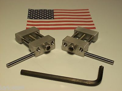 Set Of 2 Machinist Work Stops Mill 1 Left And 1 Right Low Profile