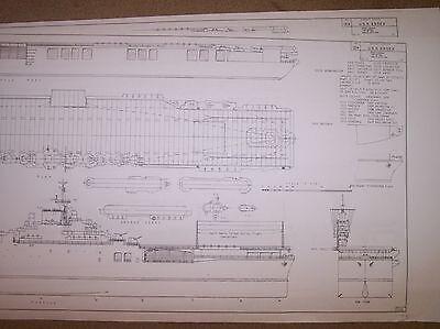 USS  ESSEX CV9 SHIP PLANS