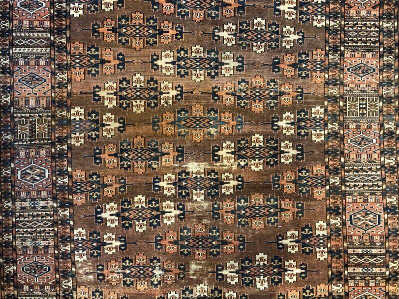 Tremendous Turkmen - 1890s Antique Yamout Rug - Tribal Carpet - 6.1 X 9.9 Ft.