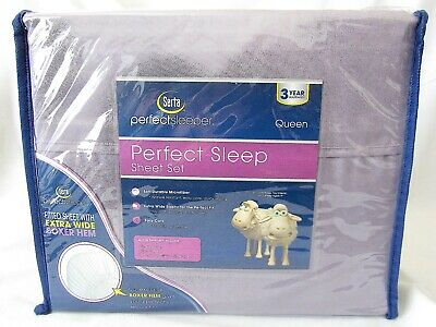 NEW Serta Sheet Set QUEEN Size Perfect Sleep Microfiber GRAY