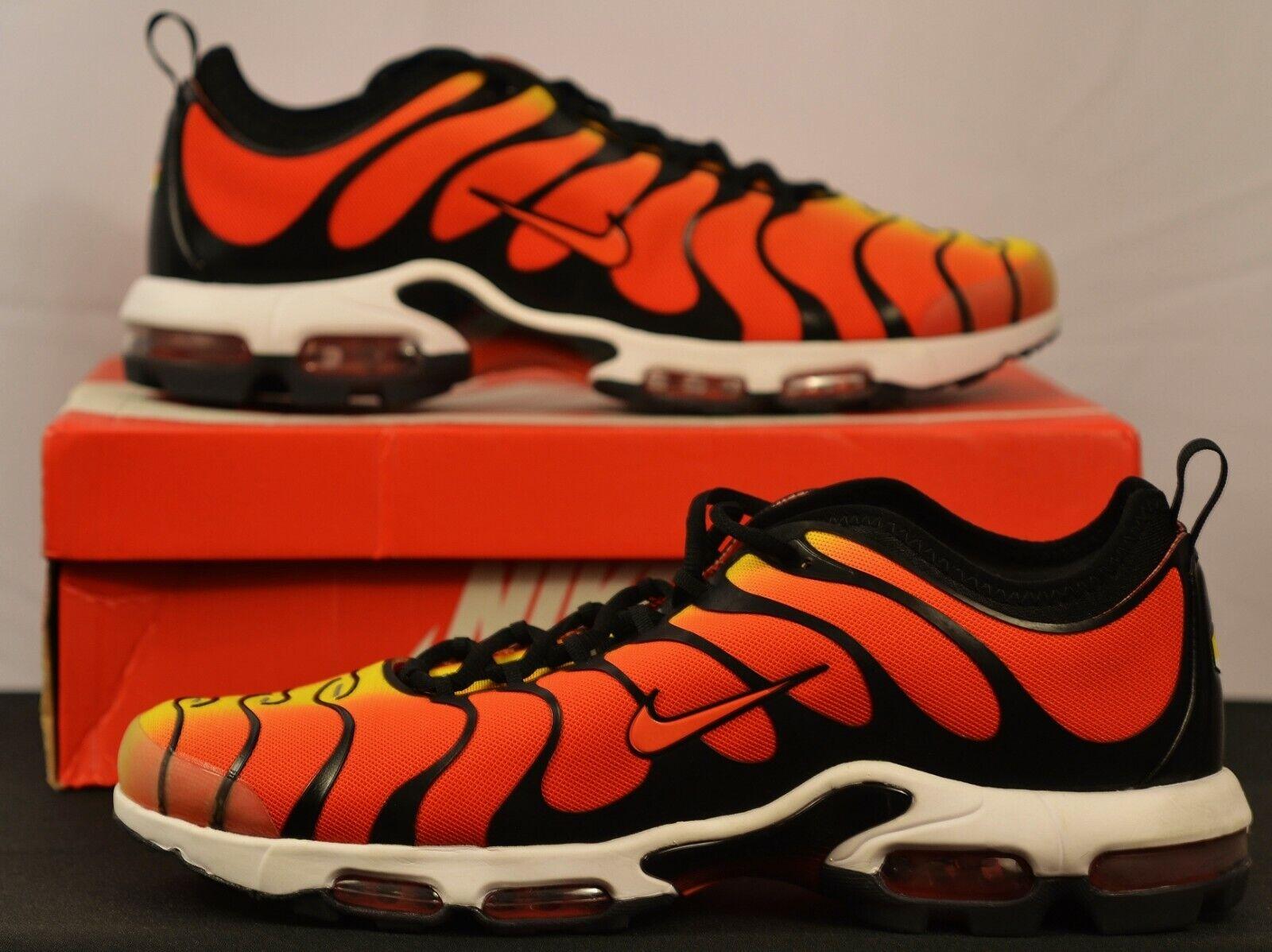 Nike Air Max Plus TN Ultra Tiger Mens 13 Sneakers Shoes Black Team Orange Yellow