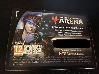 Magic MTG Arena Code Card Oko The Trickster Planeswalker Deck Throne Of Eldraine