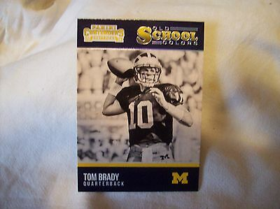 2016 Panini Contenders Football Tom Brady   Old School Colors