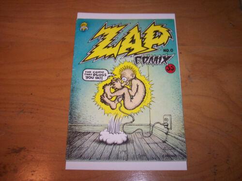 Robert Crumb Zap Comix No. 0 1967 Apex Novelties 35c Price to Front Cover FN 6.0