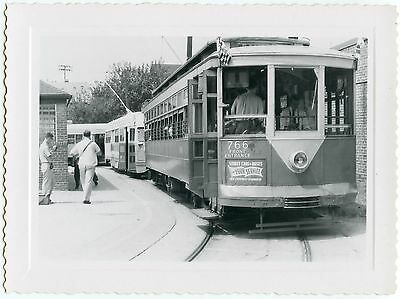 6C781 RP 1950s CAPITAL TRANSIT STREETCAR #766 WASHINGTON DC -