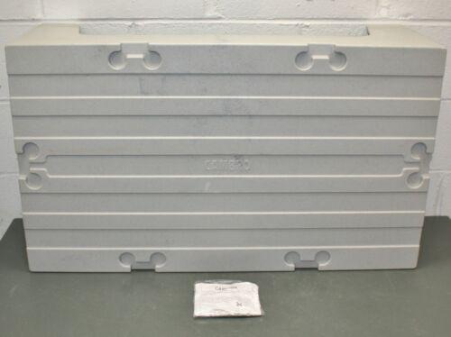"Cambro Dunnage Rack EADRS36480, 36"" x 21"" x 12"" H, 1500 Lb, Gray, NSF, Solid"