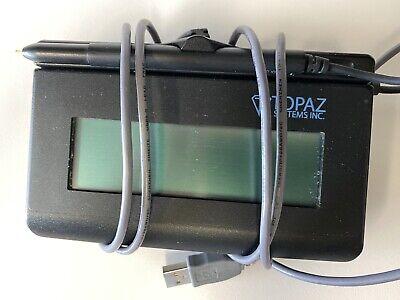2 Topaz Signaturegem T-l462-hsb-r 1x5 Lcd Signature Pads Usb With Pens