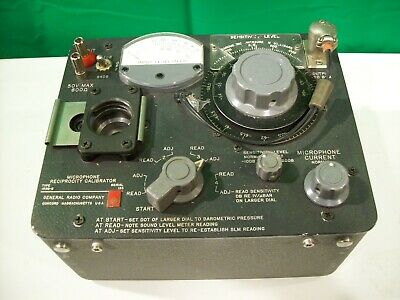 Vintage Test Equipment Sound Level Microphone Reciprocity Calibrator.