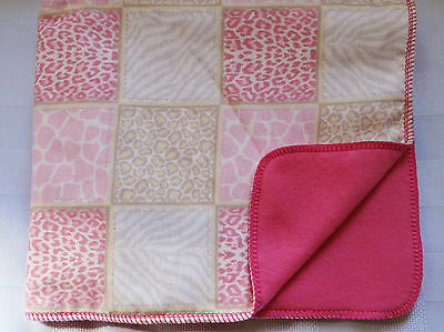 PET DOG CAT DOUBLE FLANNEL/FLEECE BLANKET-21x25 animal skin quilt CUTE #82