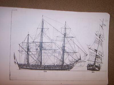 AJAX sailing ship  SHIPS PLANS
