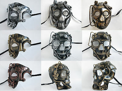 STEAMPUNK PHANTOM SKULL ROBOT MASQUERADE MARDI GRAS FICTION MENS COSTUME - Robot Mask