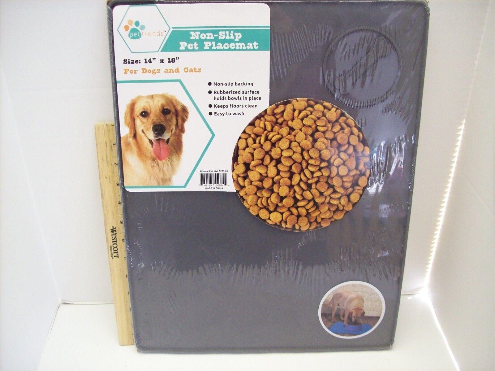 Silicone Grey Pet Food Mat Non Slip LARGE Size 14
