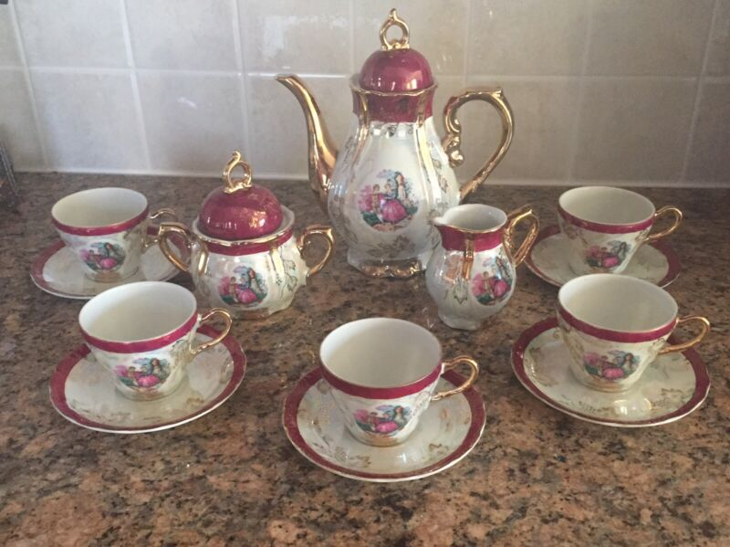 Vintage porcelain Tea Coffee Set Japan