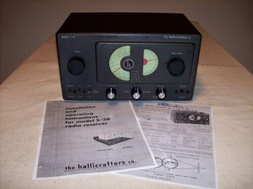 HALLICRAFTERS S-38 SHORTWAVE HAM RADIO RECEIVER – NICE 1946 MODEL RESTORED
