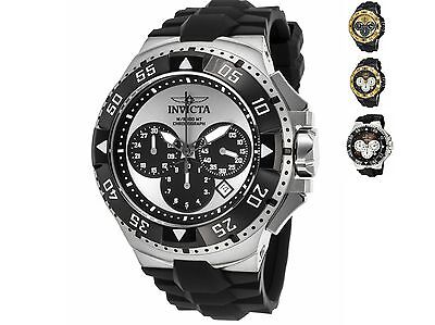 Invicta Men's 'Excursion' Quartz Stainless Steel and Silicone Casual Watch, 50MM