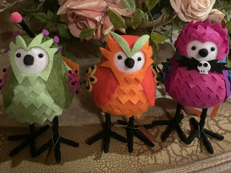 Target 2021 Hyde And Eek Halloween Ghoulish 3 Bird Set Featherly Friends New